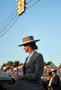 Young woman riding in the Seville Fair, Andalusia, Spain Royalty Free Stock Photo