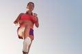 Young woman runner running,training for marathon run Royalty Free Stock Photo