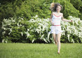 Young Woman Running On Nature,...