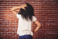 Young woman scratching her head Royalty Free Stock Photo