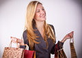 Young woman with shopping bags beautiful Royalty Free Stock Image