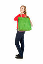 Young woman after shopping, full lenght Royalty Free Stock Images