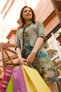 Young woman at shopping mall Stock Image