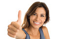 Young Woman Showing Thumb Up Royalty Free Stock Photo