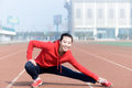 Young woman in sport wear doing sport outdoor Royalty Free Stock Photo