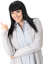 Young Woman Standing with Thumbs Up Smiling Royalty Free Stock Photo