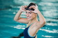 Young woman swimmer Royalty Free Stock Photo