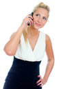 Young woman talking on mobile phone. Royalty Free Stock Image