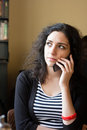Young woman talking on the phone Royalty Free Stock Photo