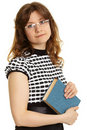 Young woman - teacher with a book Royalty Free Stock Photo
