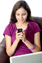 Young woman text messaging Royalty Free Stock Image