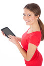 Young woman using electronic tablet Royalty Free Stock Photo
