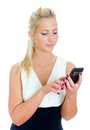 Young woman using mobile phone. Royalty Free Stock Photos
