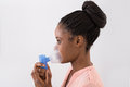 Young Woman Using Oxygen Mask Royalty Free Stock Photo