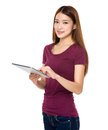 Young woman using tablet computer Royalty Free Stock Photo