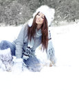 Young woman winter portrait. Royalty Free Stock Images