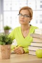 Young woman working at home Royalty Free Stock Images