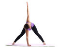 Young woman yoga instructor demonstrate asana Royalty Free Stock Photo