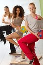 Young women exercising with ball Royalty Free Stock Image