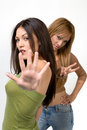 Young women gesturing Stock Image