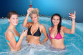 Young women in jacuzzi Royalty Free Stock Image