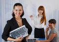 Young women at the office Royalty Free Stock Image