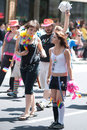 Young women at Seattle Gay Pride Parade Stock Image