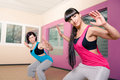 Young women sport dress aerobic exercise Royalty Free Stock Photo