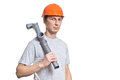 Young working plumber tool Stock Photos