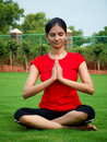 Young Yoga Girl Stock Images