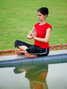 Young Yoga Girl Royalty Free Stock Photography