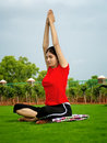 Young Yoga Girl Stock Image