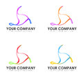Your company illustrations set of abstract for logos with placeholder for name and slogan Stock Photos