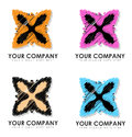 Your company logo designs group of four abstract colorful business Royalty Free Stock Images