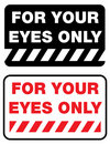 For your eyes only Stock Photo