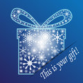 Your gift illustration of a christmas snowflakes background Royalty Free Stock Photos