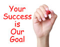 Your success is our goal Royalty Free Stock Photo