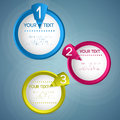 Your text on the three circles drawn vector Royalty Free Stock Photos