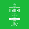 Your time is limited - quote typographical poster by Steve Jobs Royalty Free Stock Photo