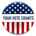 Your Vote Counts - badge button concept Royalty Free Stock Photo