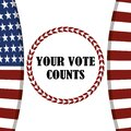 Your vote counts flag american patriotism, politics voting and elections USA, make it count Royalty Free Stock Photo