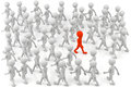 Your way d small people one stands out from the crowd d image Royalty Free Stock Photo