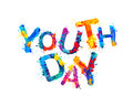 Youth day. Splash paint