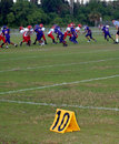 Youth Football action Royalty Free Stock Photo