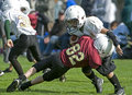Youth football tackle Royalty Free Stock Photo