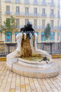 The youth fountain in the Darcy square, in Dijon Royalty Free Stock Photo