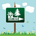 Youth hostel sign Royalty Free Stock Image