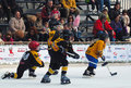 Youth ice hockey players in action Stock Image