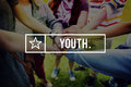 Youth Young Teens Generation Adolescence Concept Royalty Free Stock Photo