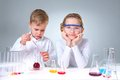 Youthful chemists Royalty Free Stock Photos